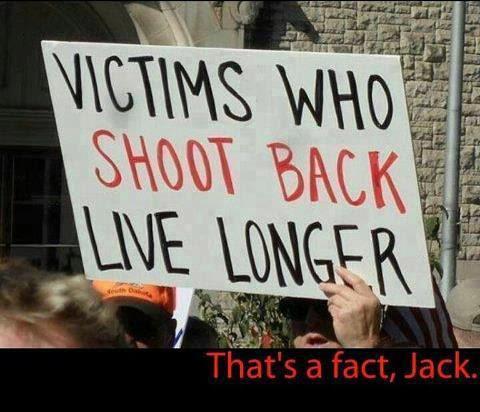 Victims who shoot back live longer