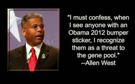 Allen West gene pool bumper stickers