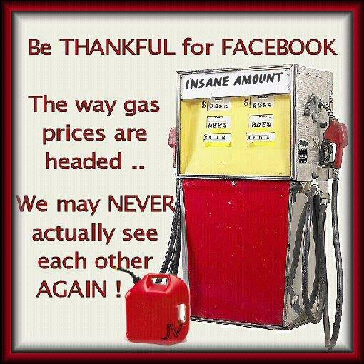 Higher gas prices and Facebook