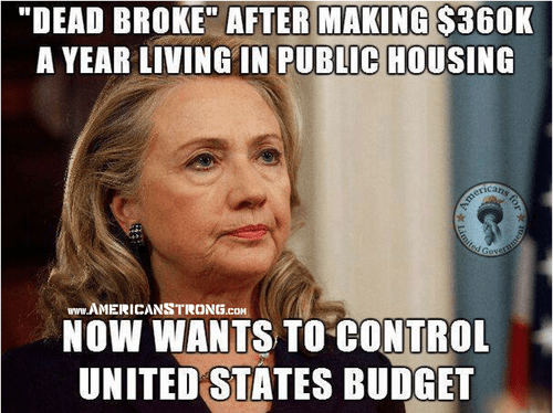 Hillary wants to control US budget