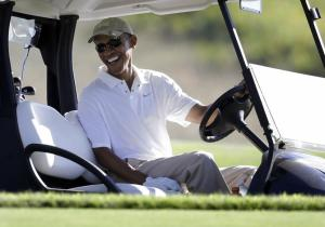Obama is all smiles after the Foley speech
