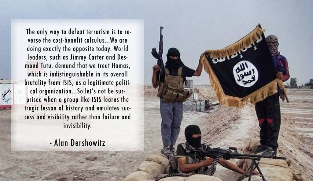 Reversing terrorists' cost-benefit calculus