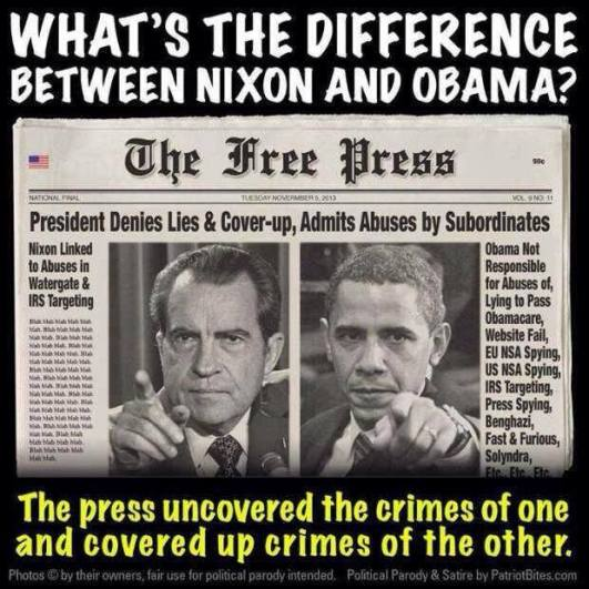Difference between Nixon and Obama