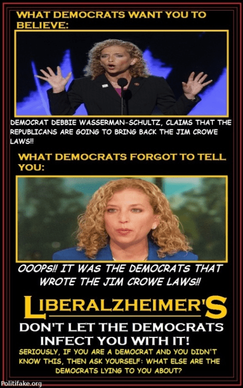Liberalzheimer's and Jim Crow laws