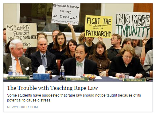 Teaching rape is microaggression