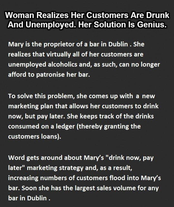 Dubllin bar explains European economics