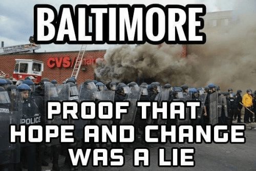 Baltimore hope and change a lie