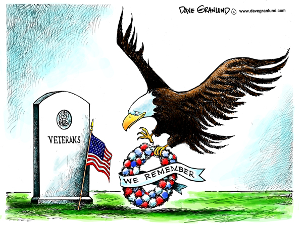 Eagle and veterans