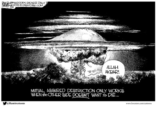 Mutually assured destruction doesn't work with suicidal nations
