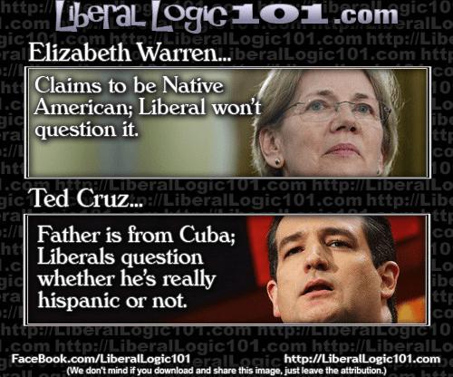 Racial identity liberals Cruz Warren