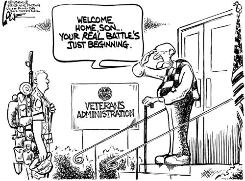 Veteran's administration real battle