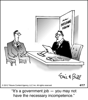 government jobs incompetence