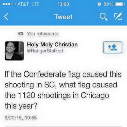 Chicago shooting flag