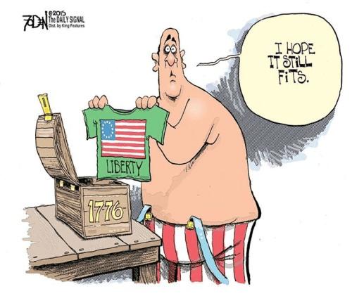 Liberty no longer fits America