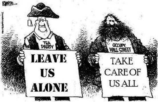 Tea Party versus Occupy