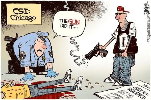 The gun did it