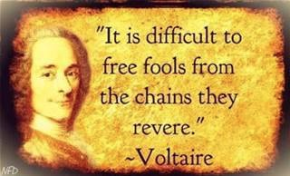 Voltaire fools chains
