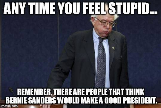 Bernie Sanders feeling stupid