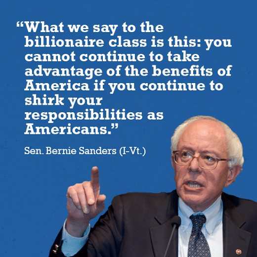 Bernie Sanders on billionaires
