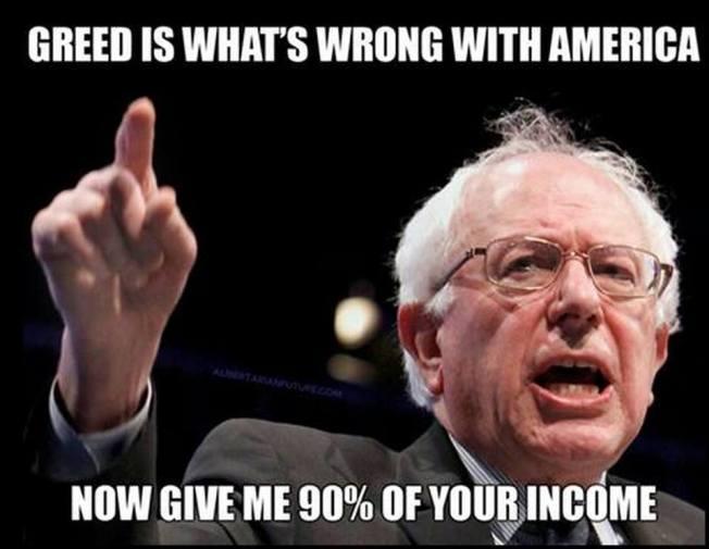 Bernie Sanders on greed