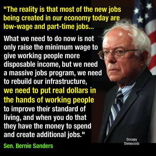 Bernie Sanders on minimum wage and corporate income tax