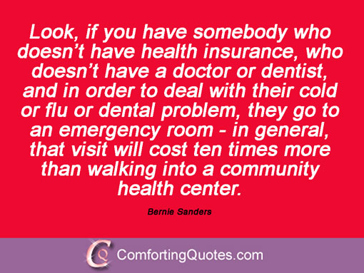 Bernie Sanders on poor people and community health care