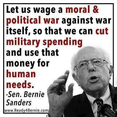 Bernie's anti-war position