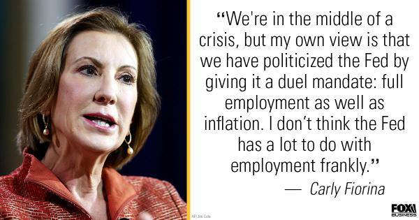 Carly on the Federal Reserve
