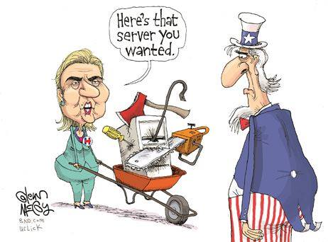 Hillary and the server