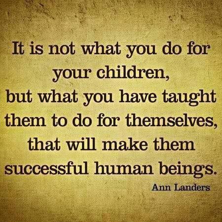 Ann Landers on successful children