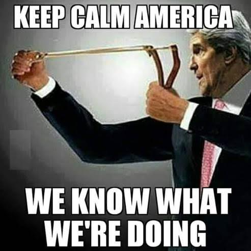 John Kerry and sling shot