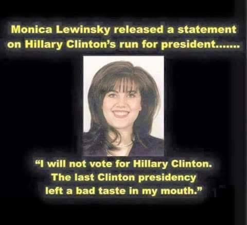 Very bad Monica Lewinsky joke