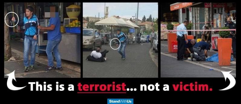 Distinguishing a Palestinian terrorist from a victim