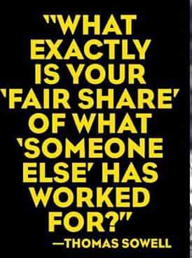 Fair share Thomas Sowell