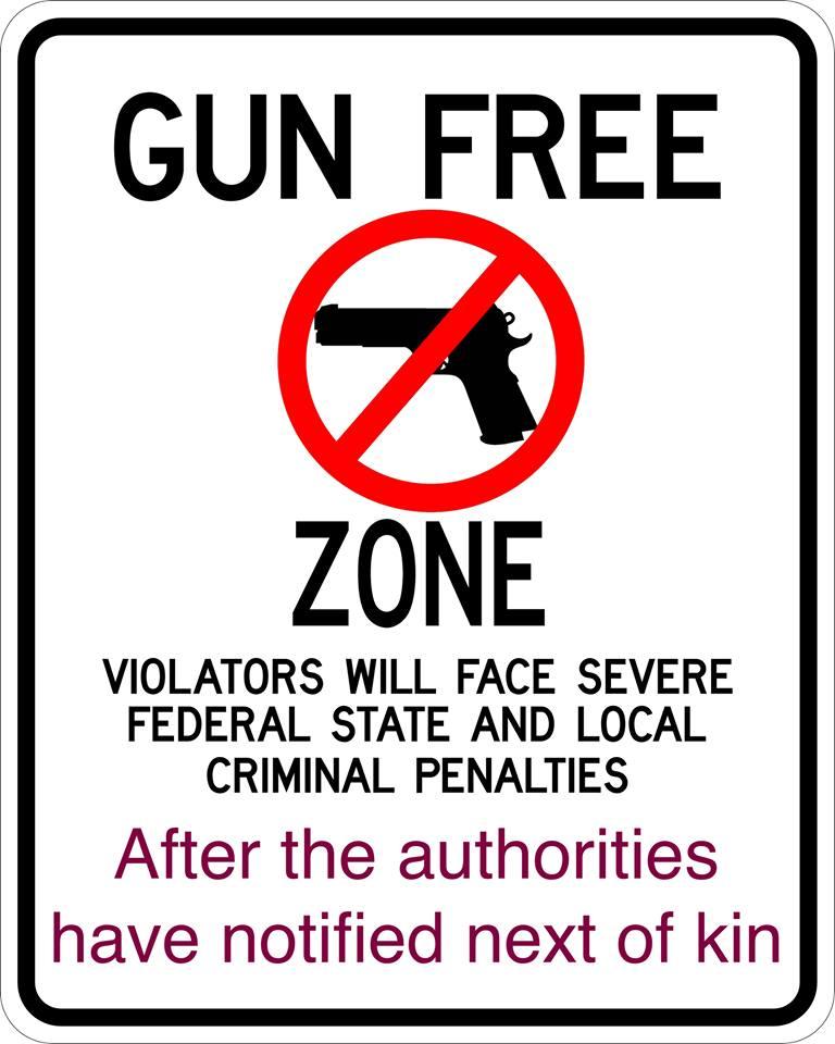 Gun free zone next of kin