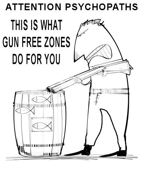 Gun free zones are shooting fish in a barrel