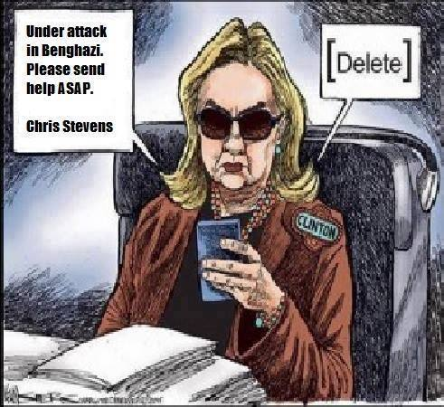 Hillary deletes Benghazi