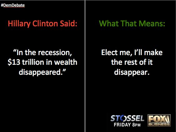 Hillary's money problem