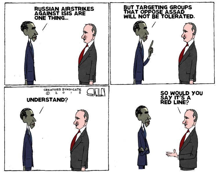 Obama and Putin red line