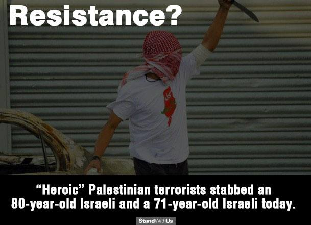 Cowardly palestinian resistance