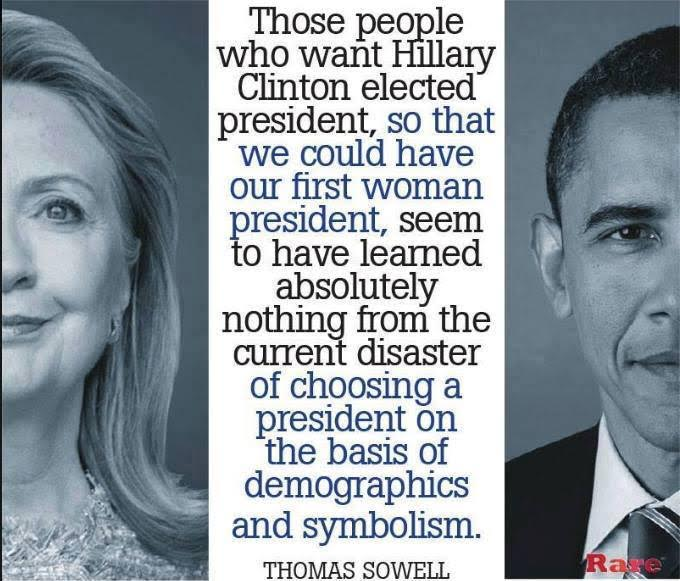 Electing Hillary as first woman is stupid