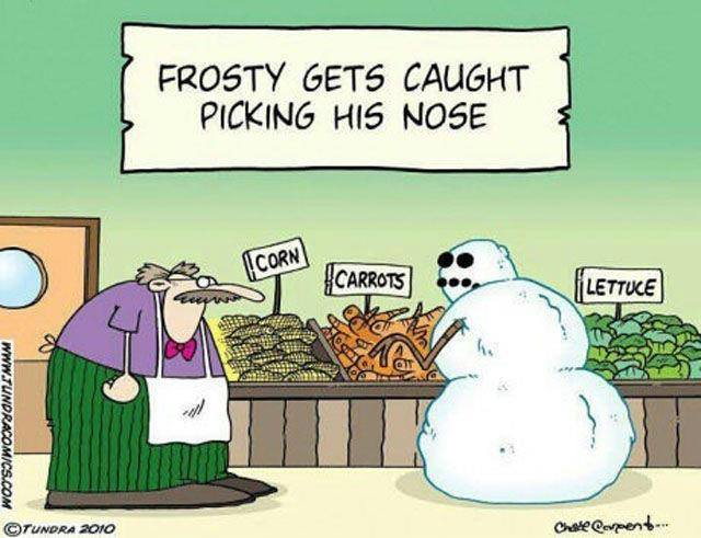 Frosty picks his nose
