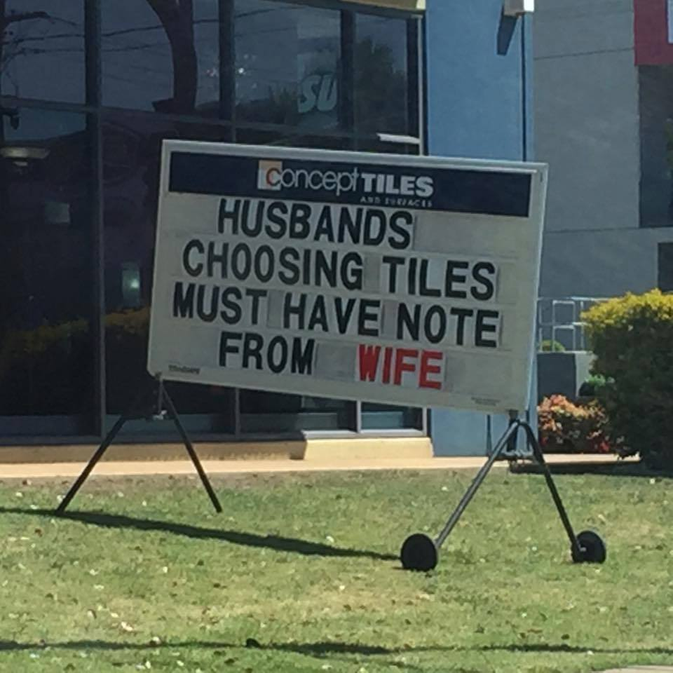 Husbands must have note from wife