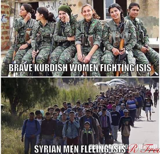 Kurds and Syrian refugees