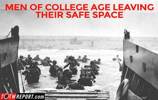 Men of college age d day