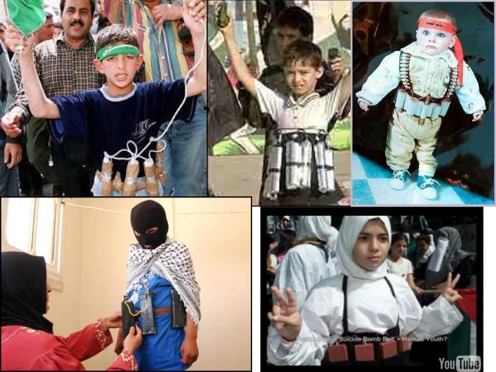 Muslim women and children