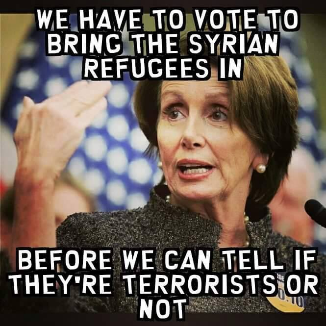 Nancy Pelosi refugees terrorists