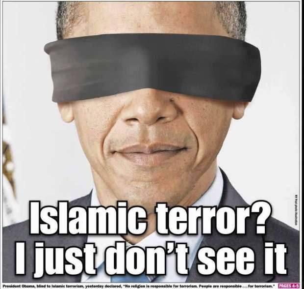 Obama blindfolded
