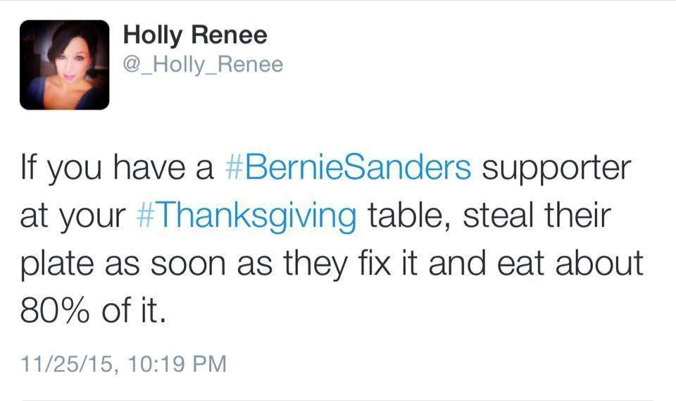 Thanksgiving at Bernie's