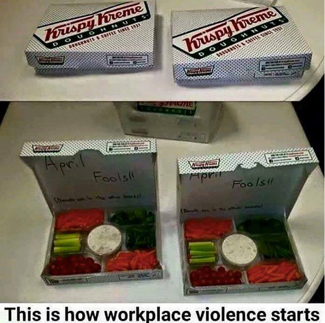 How workplace violence starts donuts